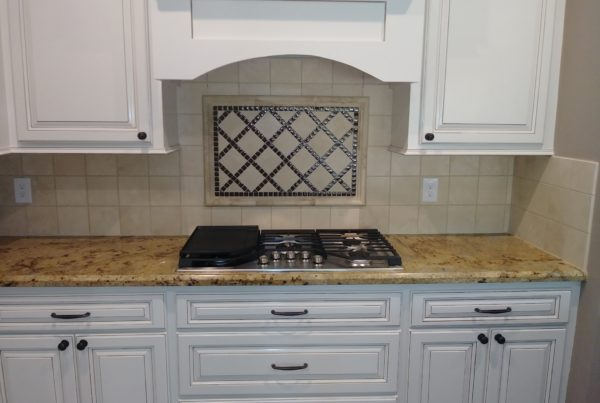 White with granite counter