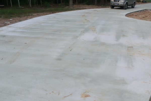 Cement driveway