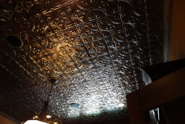Ornate tin feature ceiling