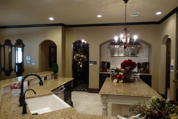 Granite countertops and island