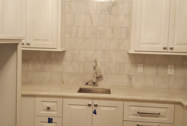 Tiled back splash