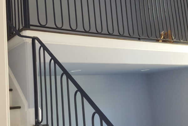 New stair and balcony railing