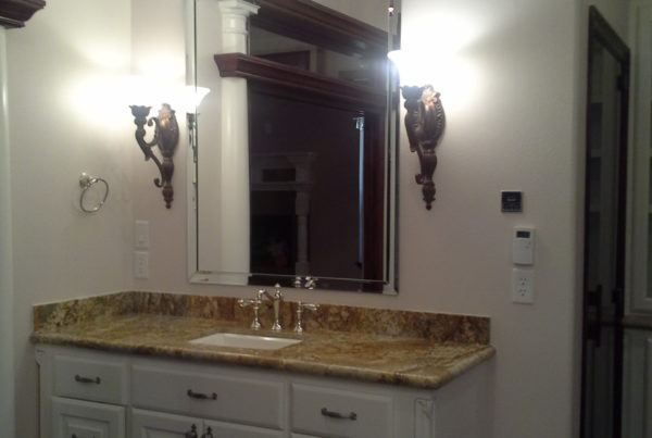 Marble bathroom vanity